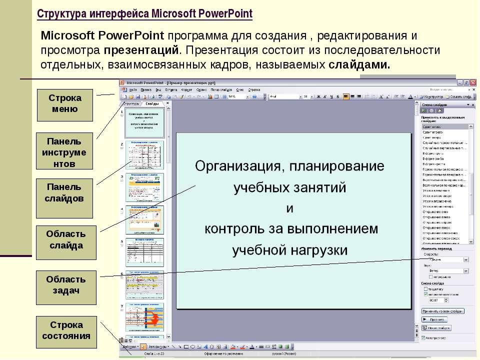 Microsoft Power Point для презентации